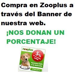 Compra en zooplus a través de nuestro enlace y nos donarán un 5% para nuestros animales rescatados. A ti no te supondrá ningún incremento.